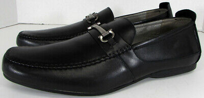 Steve Madden Mens Katts Moc Toe Slip On Loafer Shoes, Black, US 12
