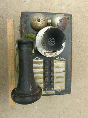 Unusual Antique Metal Case Wall Telphone Western Electric Adelaide Australia
