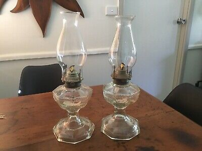Vintage Glass Oil Lamps