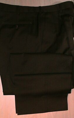 BURBERRY London Men's Wool Pleats No Cuffs - Root Beer color - pants 34 x 28