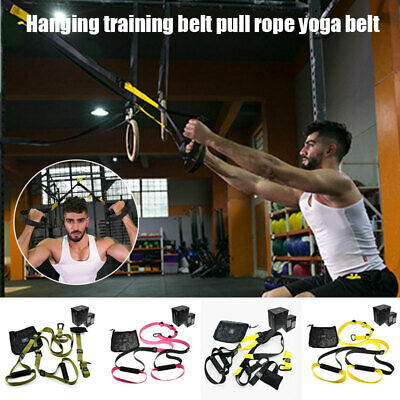 Bodyweight Resistance Straps Suspension Trainer Kit Home Gym Fitness Training AU