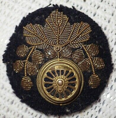 Japanese Military Bullion wire Insignia with original label on rear