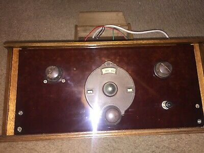 1920's Vintage Valve Tube Radio with power supply working