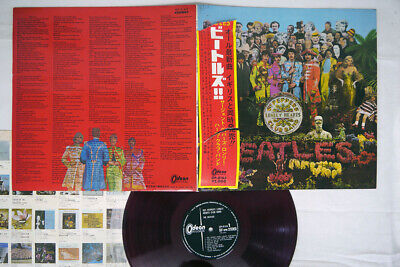 BEATLES SGT.PEPPER'S LONELY HEARTS CLUB BAND ODEON OP-8163 Japan OBI RED LP