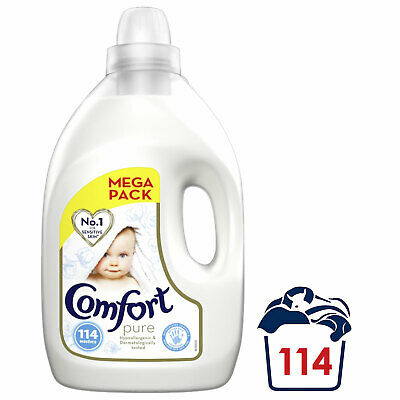 Comfort Softener Fabric Conditioner, Pure, 114 Wash, 4L