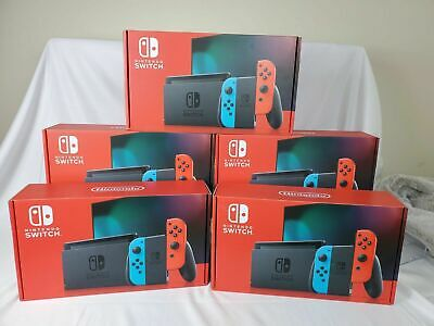 Nintendo Switch Console Neon V2 Improved Battery Edition FREE UK SHIPPING