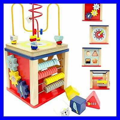 Activity Cube Wooden Toys For 1 2 Year Old Boy Gifts 12 18 Months Baby Preschool