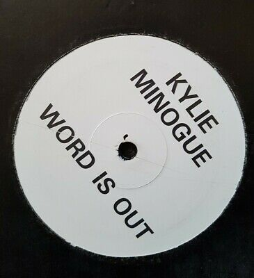 """Kylie Minogue Promo 12"""" Single Word Is Out"""