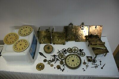 Job Lot of OLD BADISCHE & KIENZLE ANNIVERSARY CLOCK PARTS lot1