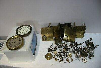 Job Lot of OLD JAHRESUHRENFABRIK & HAAS ANNIVERSARY CLOCK PARTS lot 2