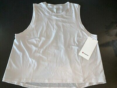Lululemon Sheer Will Tank Pulse - Light Chalk - Size 10