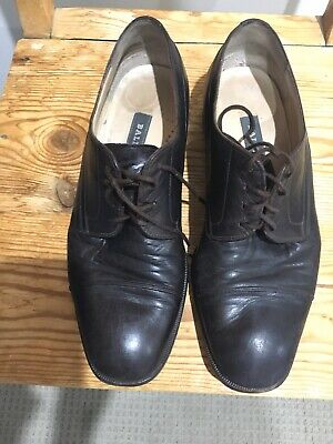 Brown Leather Unisex lace up shoes Sz Eu 42.5, UK 8.5 From Bally (Switzerland)