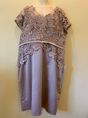 Gorgeous, Elegant dress by BJC in oyster colour, size 20