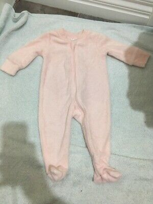 Baby Girls Pink Long Sleeve Zip Up Jumpsuit Size 000 EUC