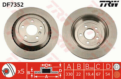 MERCEDES ML280 W164 3.0D 2x Brake Discs Pair Vented Front 05 to 09 OM642.940