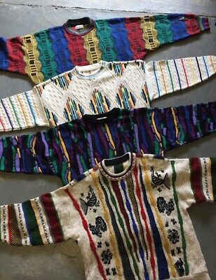 VINTAGE wholesale 80's 90'S pattern cosby style knit sweaters jumpers x 25