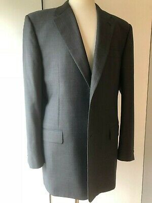 HICKEY FREEMAN Mens 46L GREY Suit 2 Button EXCELLENT CONDITION RECENT LABEL