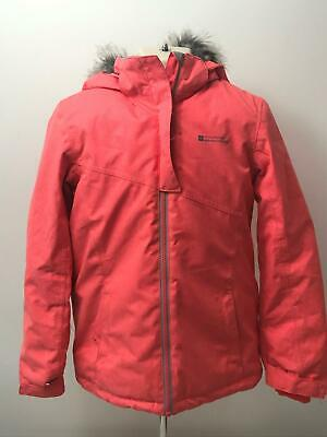 Girls Mountain Warehouse Coral Padded Hooded Warm Coat Jacket Kids Age 9-10 Yrs
