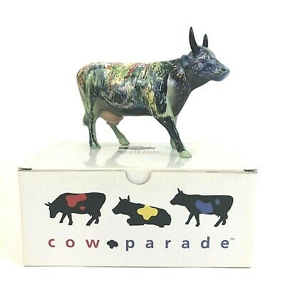 Cow Parade Cow Figurine # 9168  M00NET  by Westland Giftware  EUC With Box