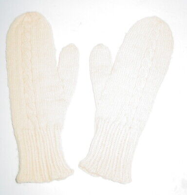 Vintage Child Size Hand Knitted Mittens (c10)