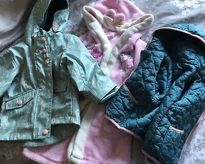 Marks And Spencer Girls 3:1 Coat 12-18 Months , & Peppa Pig Dressing Gown 12-24m