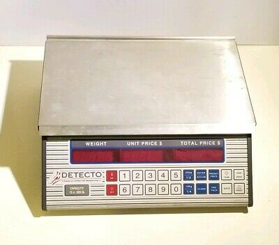 Detecto Cardinal PC-20 B Commerical Deli Produce Price Computing Scale NO CABLES