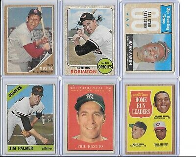 1950's and 1960's Topps Baseball Cards - Various HOFers and Rookies - U Pick