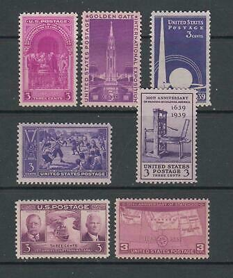 COMPLETE 1939 YEAR, COLLECTION MINT NH/OG Scott No. 852-58