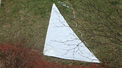 "Storm Jib for Sailboat   Luff: 14'   Foot  7' 3""  Heavily built Used Very Good"