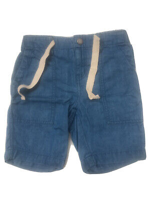 Country Road Kids Blue Cotton Linen Shorts 6 Years