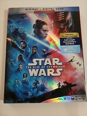 Star Wars The Rise of Skywalker (Blu-ray & NODigital) W/Slipcover LIKE NEW