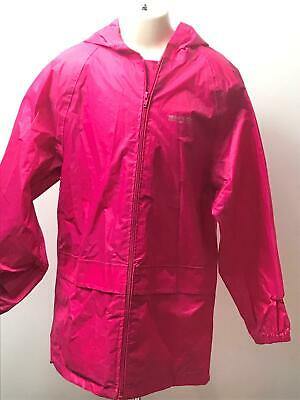 Girls Regatta Pink Hooded Lightweight Raincoat Jacket Kids Age 11-12 Years