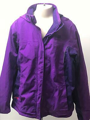 Girls Karrimor Purple Hooded Lightweight Raincoat Jacket Kids Age 13 Years