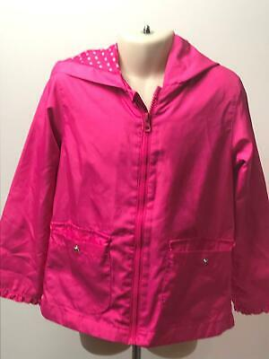 Girls Circo Pink Hooded Lightweight Raincoat Jacket Kids Age 5 Years