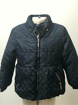 Girls Mayoral Jeans Navy Polka Dot Padded Warm Coat Jacket Kids Age 3 Years