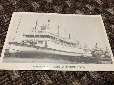 Vintage Postcard   Beached River Queens, Whitehorse, Yukon
