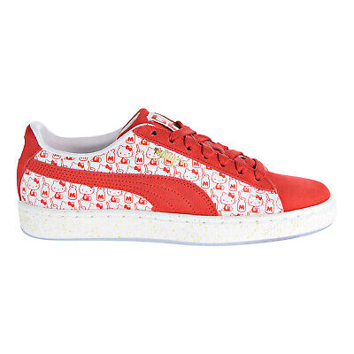 Puma Suede Classic x Hello Kitty Bright Red 366306 01 Anniversary Womens Sizes