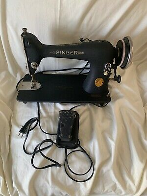Vintage Antique Singer Sewing Machine Motor 4-110  With Foot Pedal Working Cond