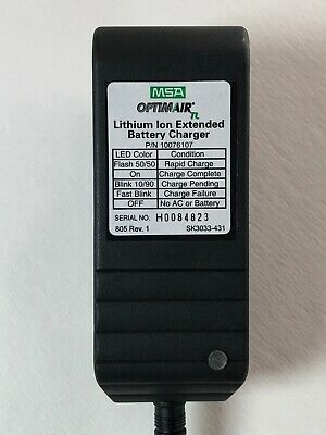 New Genuine Oem Msa Optimair Tl Lithium Ion Extended Battery Charger 10076107