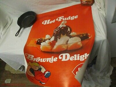 Vintage Dairy Queen Poster Dennis The Menace BROWNIE DELIGHT 1972 70S
