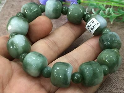 Chinese Exquisite Handmade Carving jadeite jade beads Bracelet certified2563