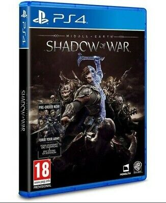 Shadow Of War - Middle Earth (PlayStation 4, Brand New, Unsealed + BONUS)