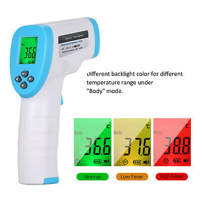 Handheld Non-Contact Infrared Forehead LCD Thermometer Gun For All Ages Baby CA