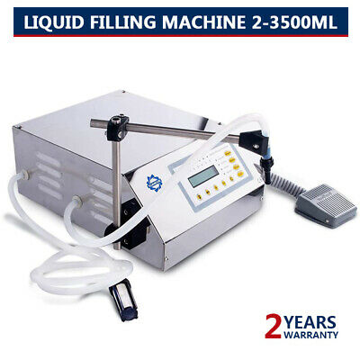 Liquid Filling Machine Automatic Digital Control Bottle Water Filler 2-3500ml