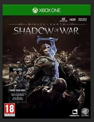 Shadow Of War - Middle Earth (Microsoft Xbox One, Brand New, Sealed + BONUS)