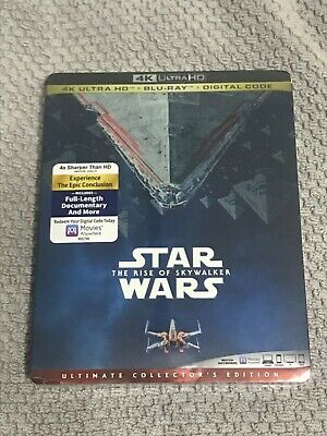 Star Wars Rise Of Skywalker 4K UHD (4K+Bluray+Digital) Brand New w/Slipcover