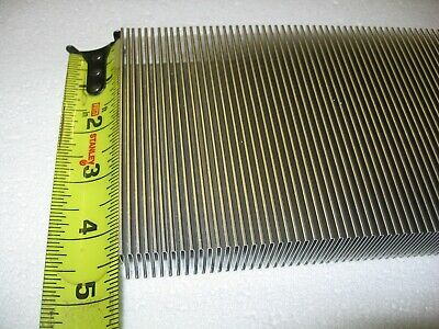 "Aluminum Thermal Heat Transfer Fin 4.6"" x 160"" Flexible Corrugated Folded Radial"