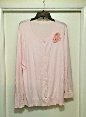 Old Navy Pale Pink Knit Cardigan Button Front Size XXL Pre-Owned Lightweight