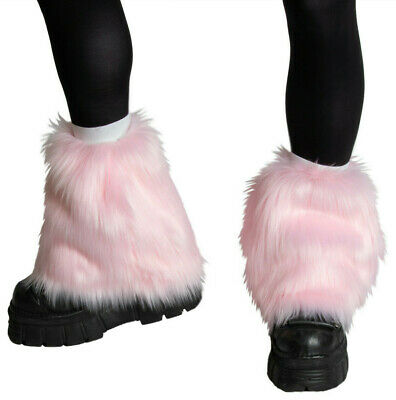 PAWSTAR Pony Puff Leg Warmer furry rave dance fluffies music pink [PI]2590