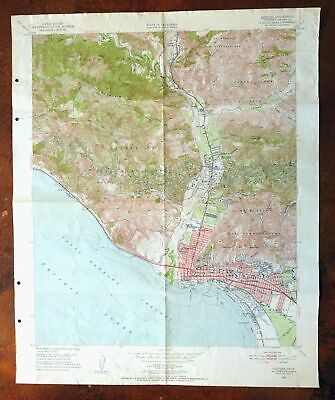 1883 CA Map Lake Nacimiento of the Pines San Marcos Wildwood CALIFORNIA History